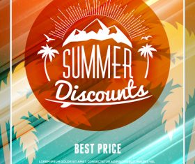 Colorful promotional flyer vector