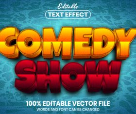 Comedy show text font style vector