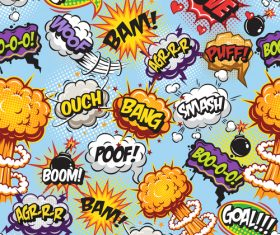 Comic explosion language bubble vector