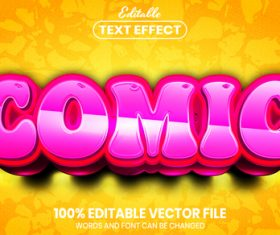 Comic text font style vector