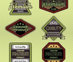 Commercial color label vector