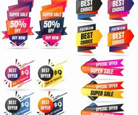 Commercial label style design vector