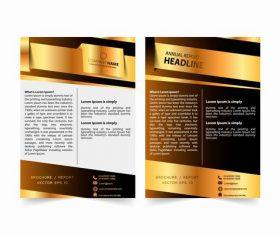 Company annual report design vector