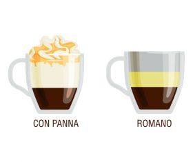 Con panna coffee vector