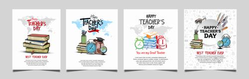 Congratulations to the teachers happy holidays vector