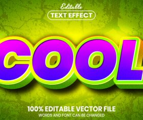Cool purple text font style vector