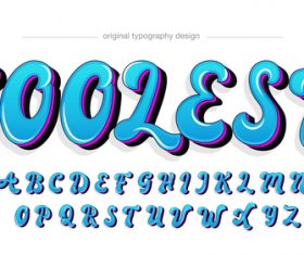 Coolest typography graphic style vector text effect