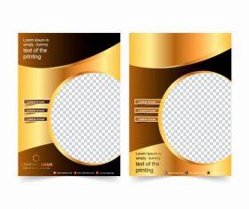 Corp promote cover design vector