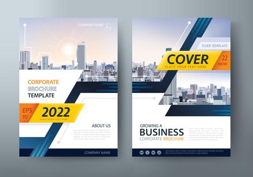 Corporate brochure template vector
