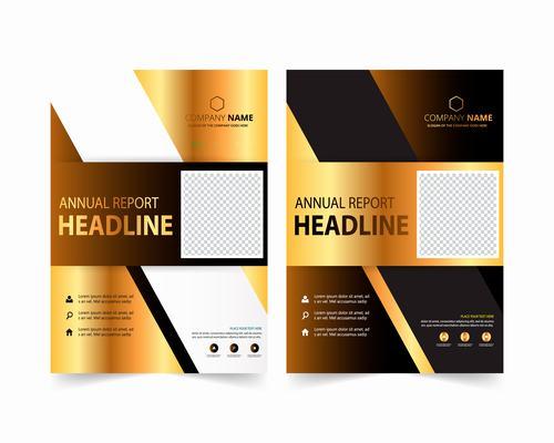 Corporate business brochure design vector