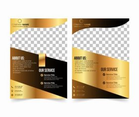 Corporate marketing business cover design vector