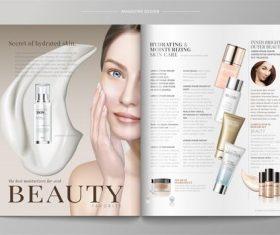 Cosmetics magazine vector