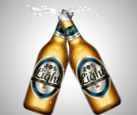 Creative beer advertising vector