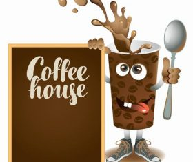 Creative coffee house design vector