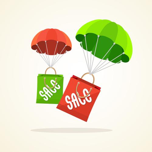 Creative sale label vector