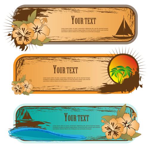 Creative summer banner vector