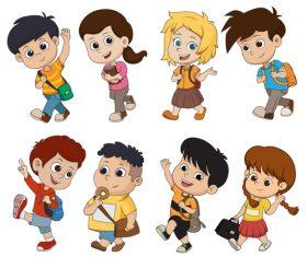 Cute kids cartoon vector