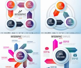 Cycle infographic vector