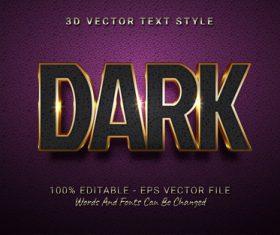 DARK text font style vector