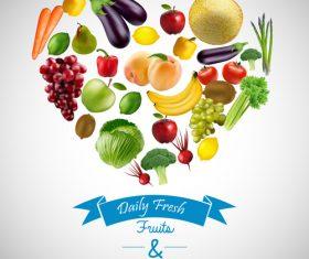 Daily fresh fruit vector
