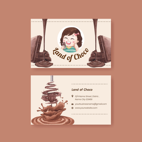 Delicious chocolate promotional label vector