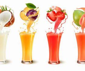 Delicious fresh juice vector