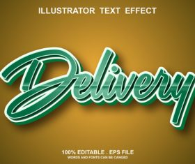 Delivery text font style vector