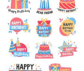 Design birthday badge vector