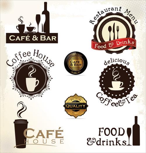 Design coffee shop logo vector