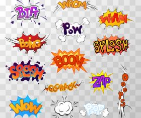 Design comic language vector