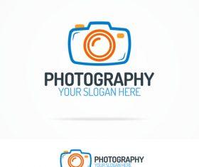 Design photography logo vector
