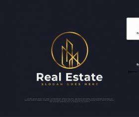 Design real estate logo vector
