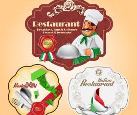 Design restaurant label vector