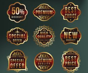 Design sale label vector
