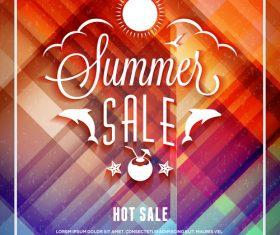 Design summer elements sale flyer vector