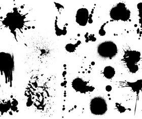 Detailed Ink splats vector