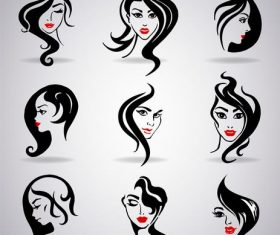Different hairstyle design illustration vector
