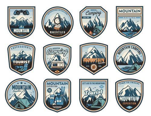 Different logos in vector