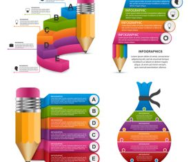 Different shapes infographic vector
