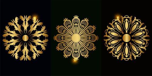 Different styles beautiful mandala ornament vector