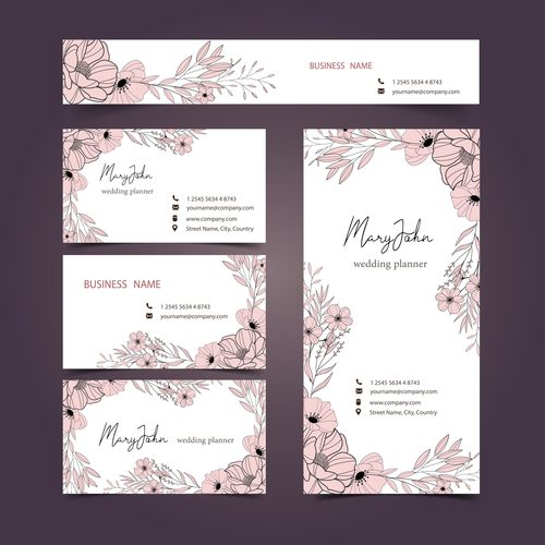Different styles business card design vector