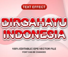 Dirgahayu indonesia text font style vector