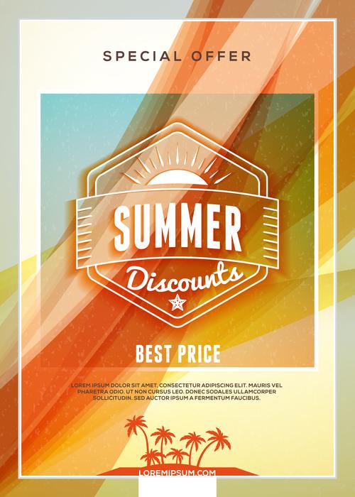 Discounts business flyer vector