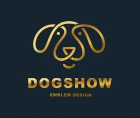 Dog show logo design vector