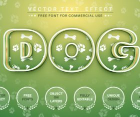 Dog vector text effect