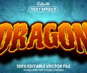 Dragon text font style vector