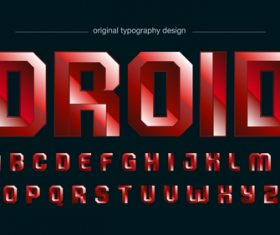 Droid typography graphic style vector text effect