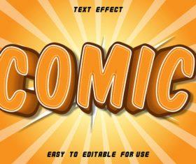 EDITABLE text effect comic vector