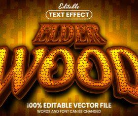 Elder wood text font style vector