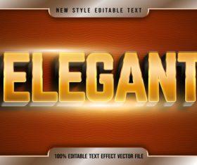 Elegant editable editable text effect vector